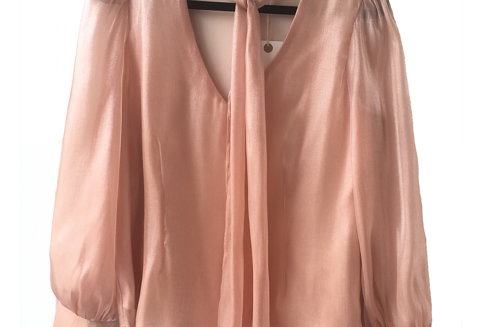 Organza Salmon Pink Shade Romantic Blouse