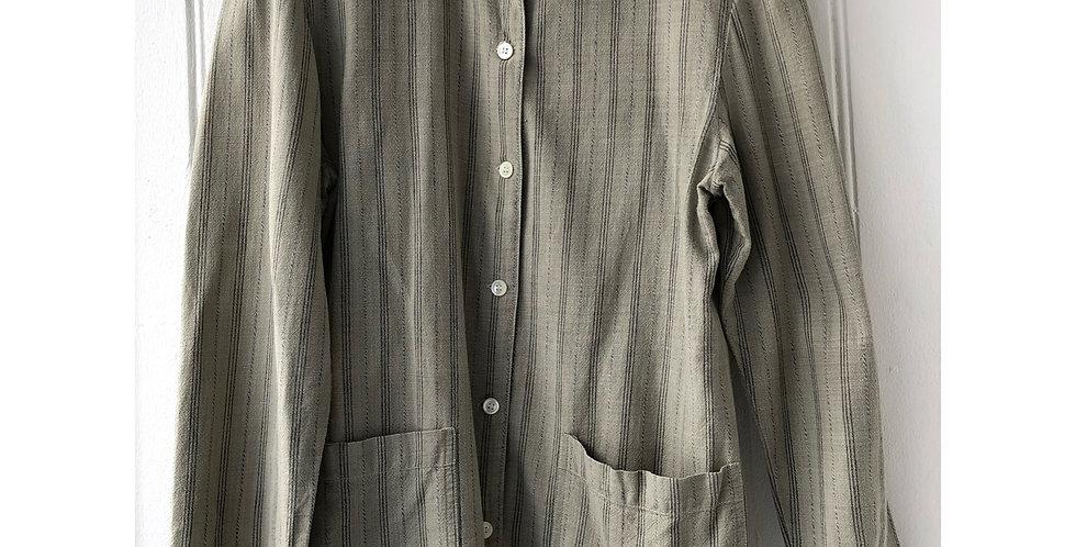 Vintage Utility Striped Shirt
