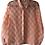 Thumbnail: Enlist Silk Blouse Geometric Abstract Orange/White Pattern