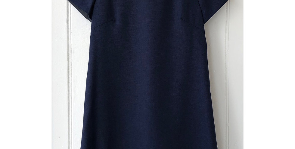 Navy Blue Vintage School Style Dress