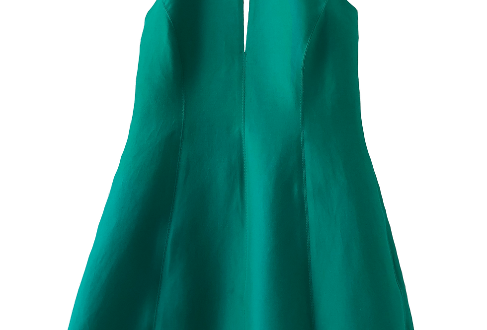 Halston Hertige Fancy Elegant Deep Green Dress