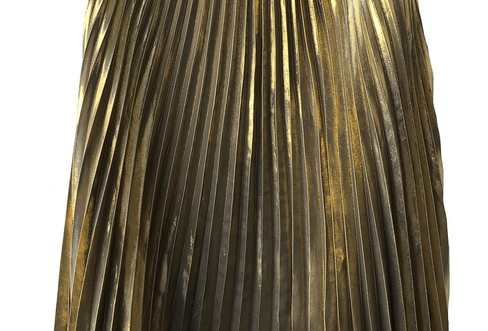 Anne Klein Gold Pleated Skirt