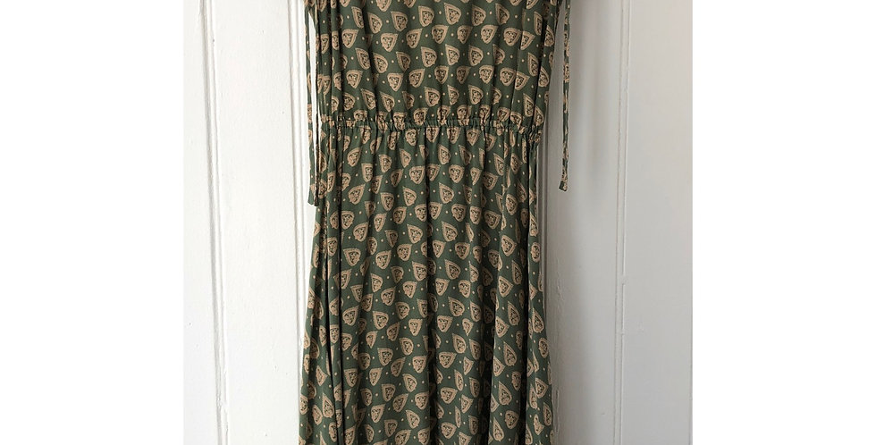 Vintage Abstract Print Dress Size UK 10