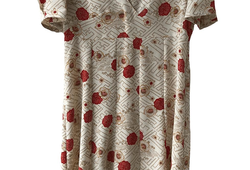 Christa Davis Oriental Pattern Silk Dress