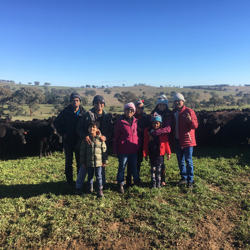 Some of our guests doing a farm tour today! On the farm tour they were able to see working dogs moving cattle, cattle being hand fed and even spotted our resident eagle sitting on the nest and soaring above us in the paddocks. 🦅