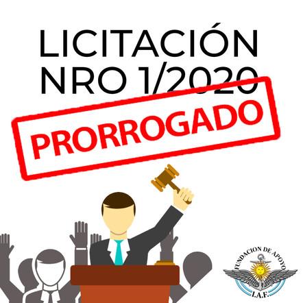 LICITACIÓN  01/2020 – ETAPA QUINTA SUSPENSIÓN TEMPORARIA FECHAS
