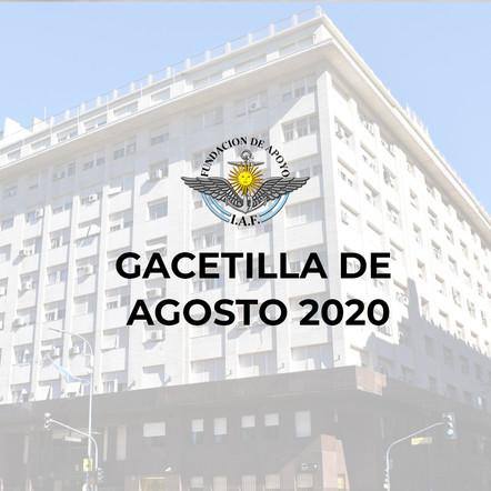 GACETILLA AGOSTO 2020