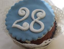 Number Fondant Cupcake