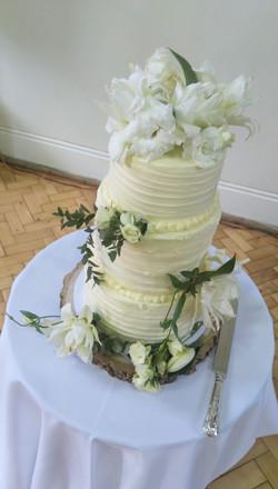 Rustic 3 Tier Wedding Cake