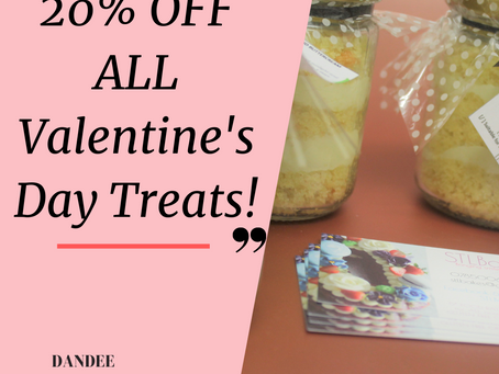 Exclusive 20% OFF for Valentine's treats only at STLBakes