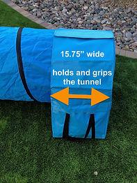 stabilizing tunnel saddlebag