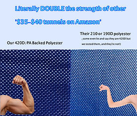 Our material is 420/PA backed Polyester
