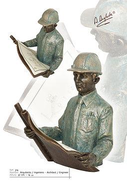 Escultura Arquitecto/Ingeniero/Aparejador - A. Anglada