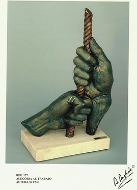 Escultura Alegoría al trabajo - A. Anglada