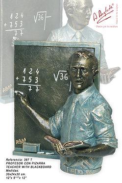 Escultura Profesor con pizarra - A. Anglada