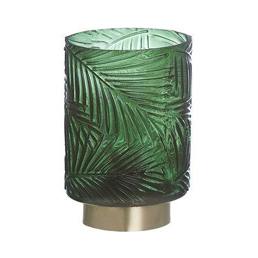 LAMPARA LED VERDE-ORO 10X10X14.5
