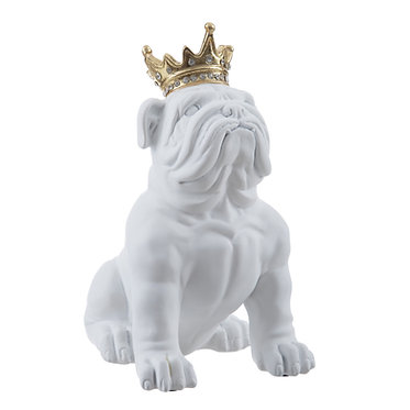 FIG. BULL DOG BLANCO-ORO 16X17X23