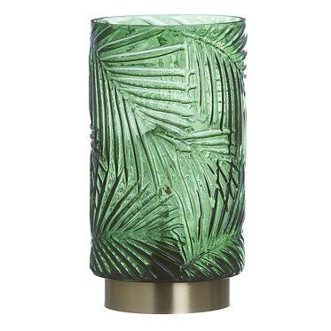 LAMPARA LED VERDE/ORO 14X14X26