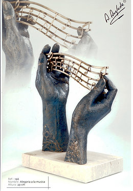 Escultura Alegoría a la Música - A. Anglada