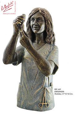 Escultura Enfermera - A. Anglada