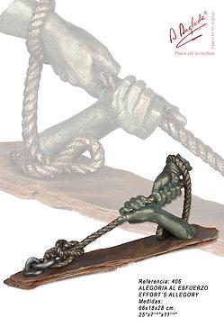 Escultura Alegoría al esfuerzo - A. Anglada