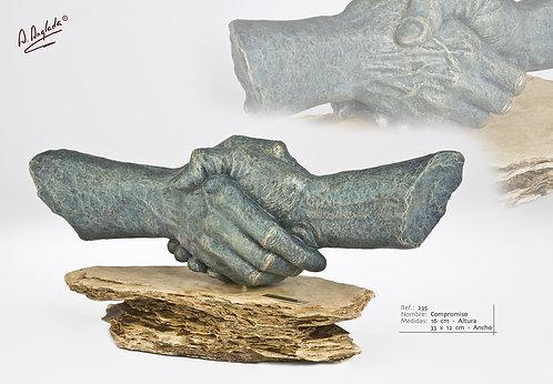 Escultura Compromiso - A. Anglada
