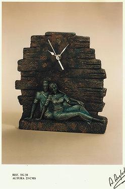 Reloj Pareja tumbada - A. Anglada