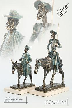 Escultura Sancho Panza en burro - A. Anglada