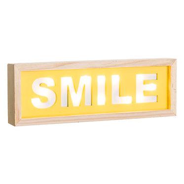 "MURAL PARED ""SMILE"" AMARILLO 30X3,5X10"