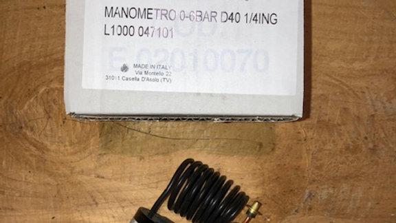 RF01091170 MANOMETRO 0-6BAR D40 1/4ING L1000 047101