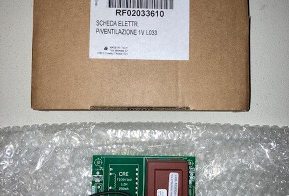 RF02033610 SCHEDA ELETTR. P/VENTILAZIONE 1V L033