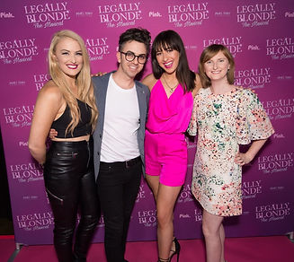 Katie Weston, Michael Ralph, Romy Vuksan, and Kathleen Higgs at the opening night of Legally Blonde Melbroune