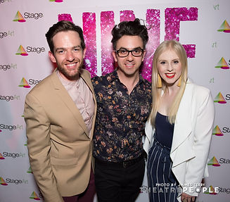 Evan Lever Michael Ralph and Sheridan Anderson at the Opening Night of Nine the Musical at Chapel off Chapel