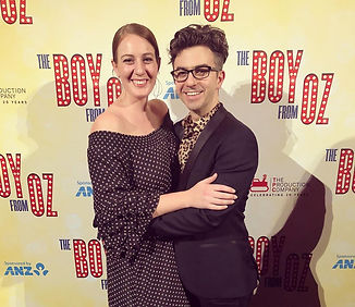 Michael Ralph and Alana Tranter at the Opening Night of Boy from Oz Arts centre Melbourne