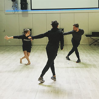 Rehearsals for SELF with Rohan Browne Jackson Rudge and Michael Ralph