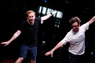 Rehearsals for Herringbone with Jay James Moody and Michael Ralph