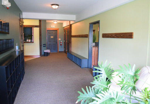 Hallway to rooms 2 & 3
