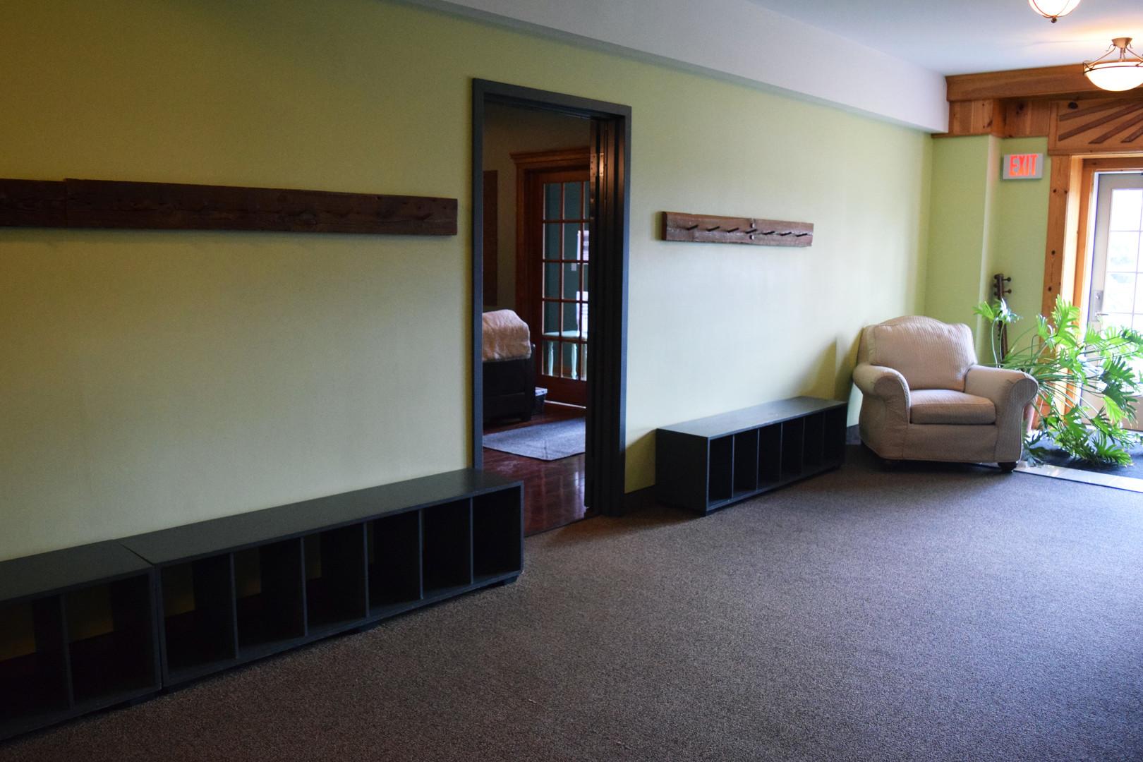 Hallway to rooms 2 & 3