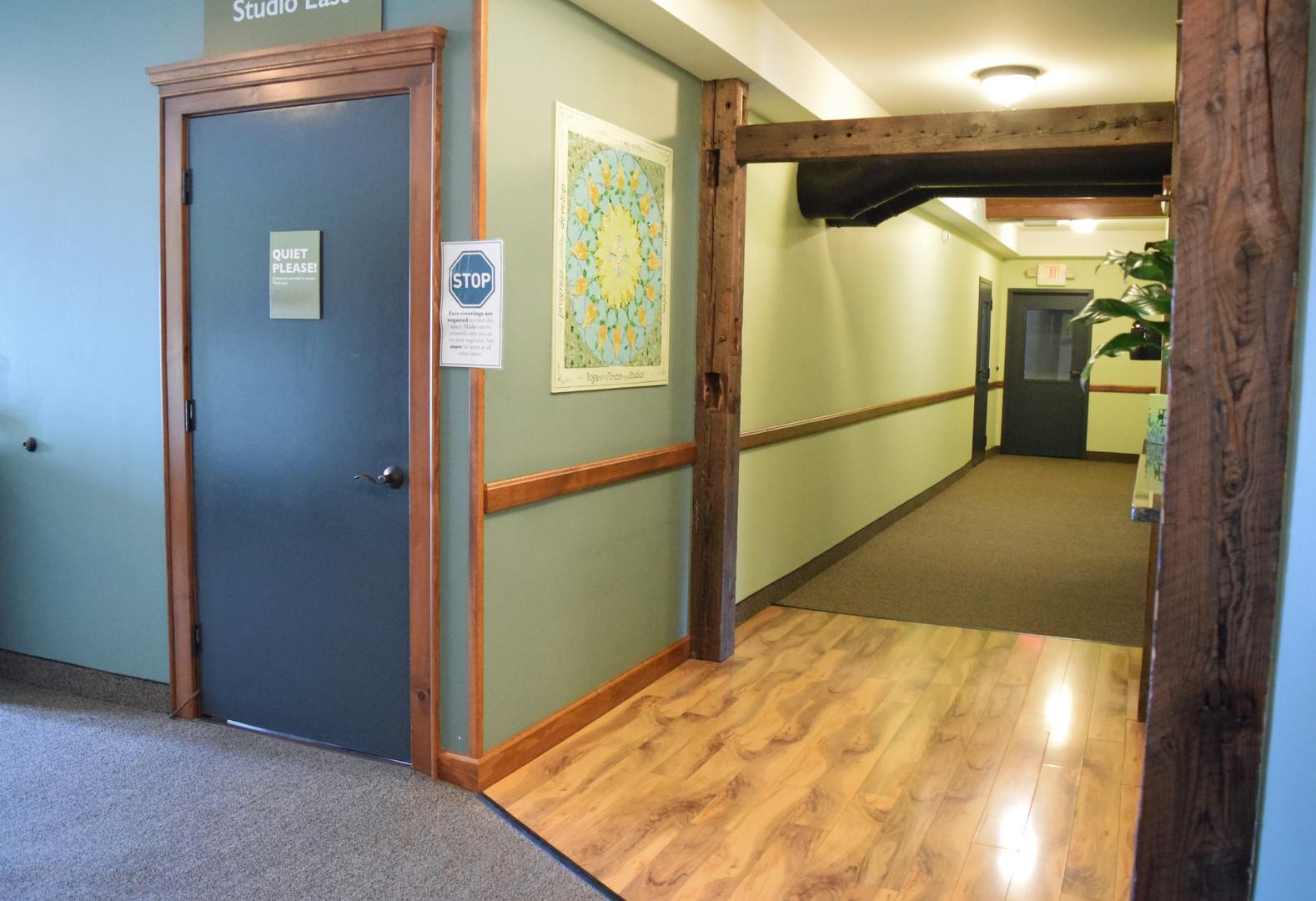 Hallways to rooms 2 & 3