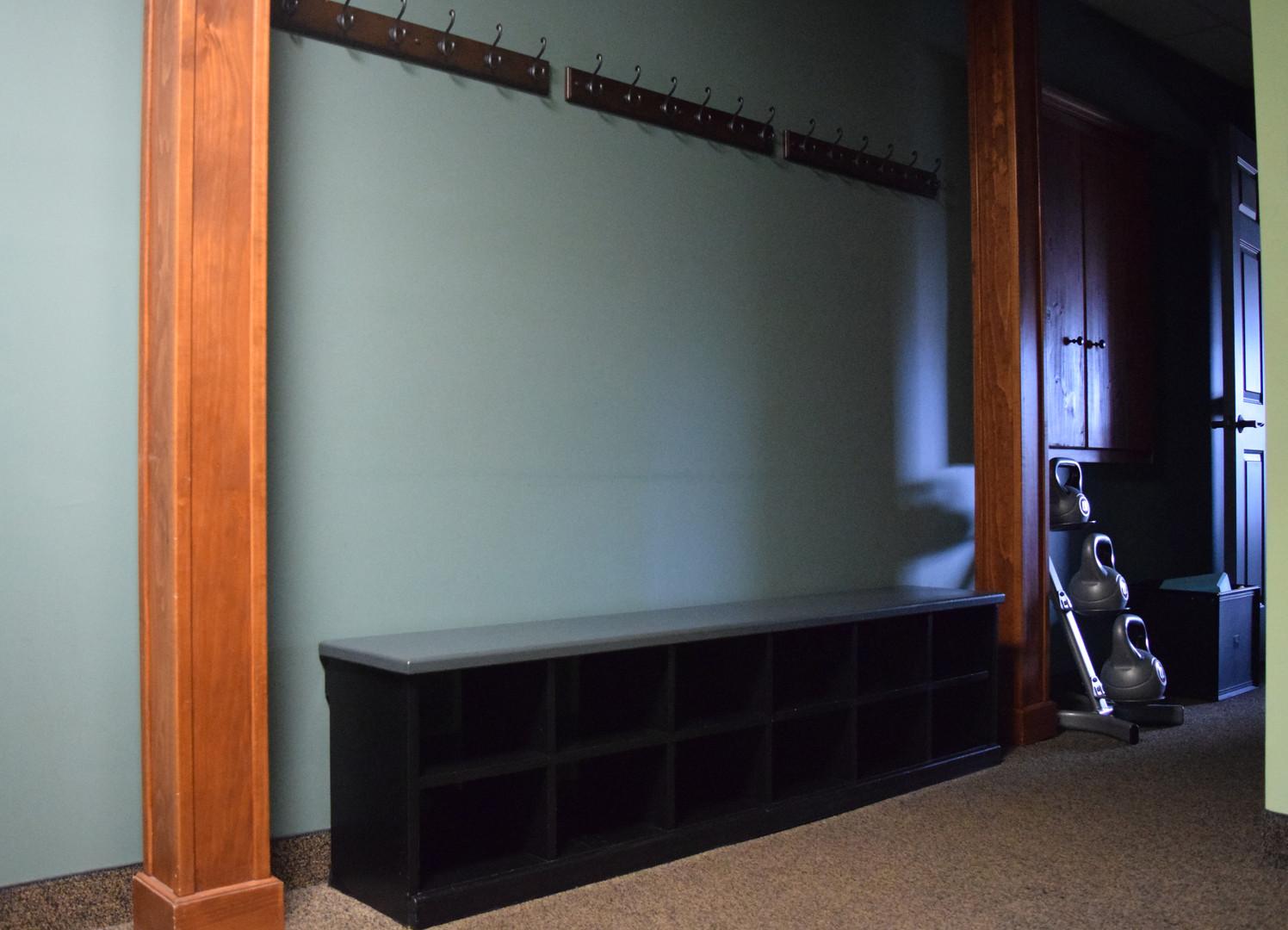 Hallway to studio space