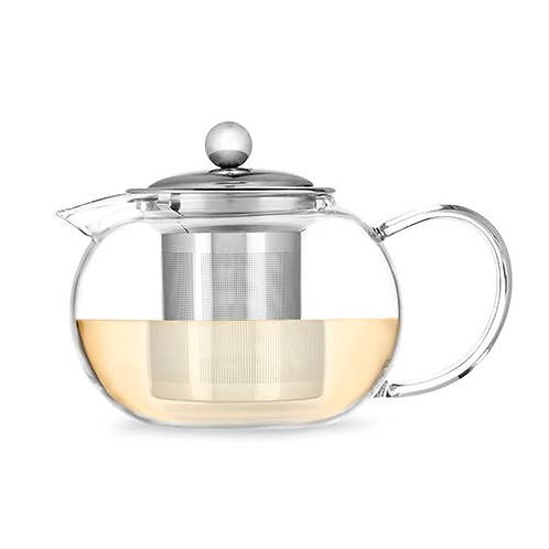 Clear Glass Teapot and Infuser