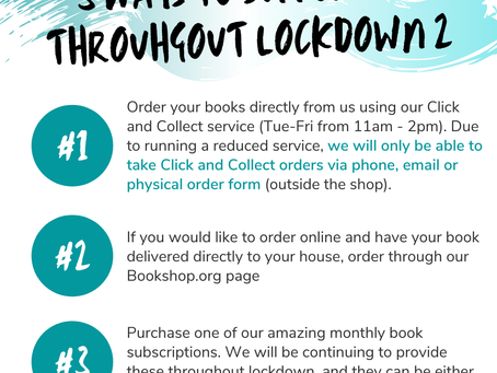 How to Order Books During Lockdown 2.0