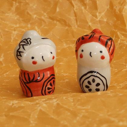 波佐見焼人形(1個)