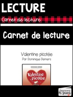 Carnet de lecture: Valentine picotée