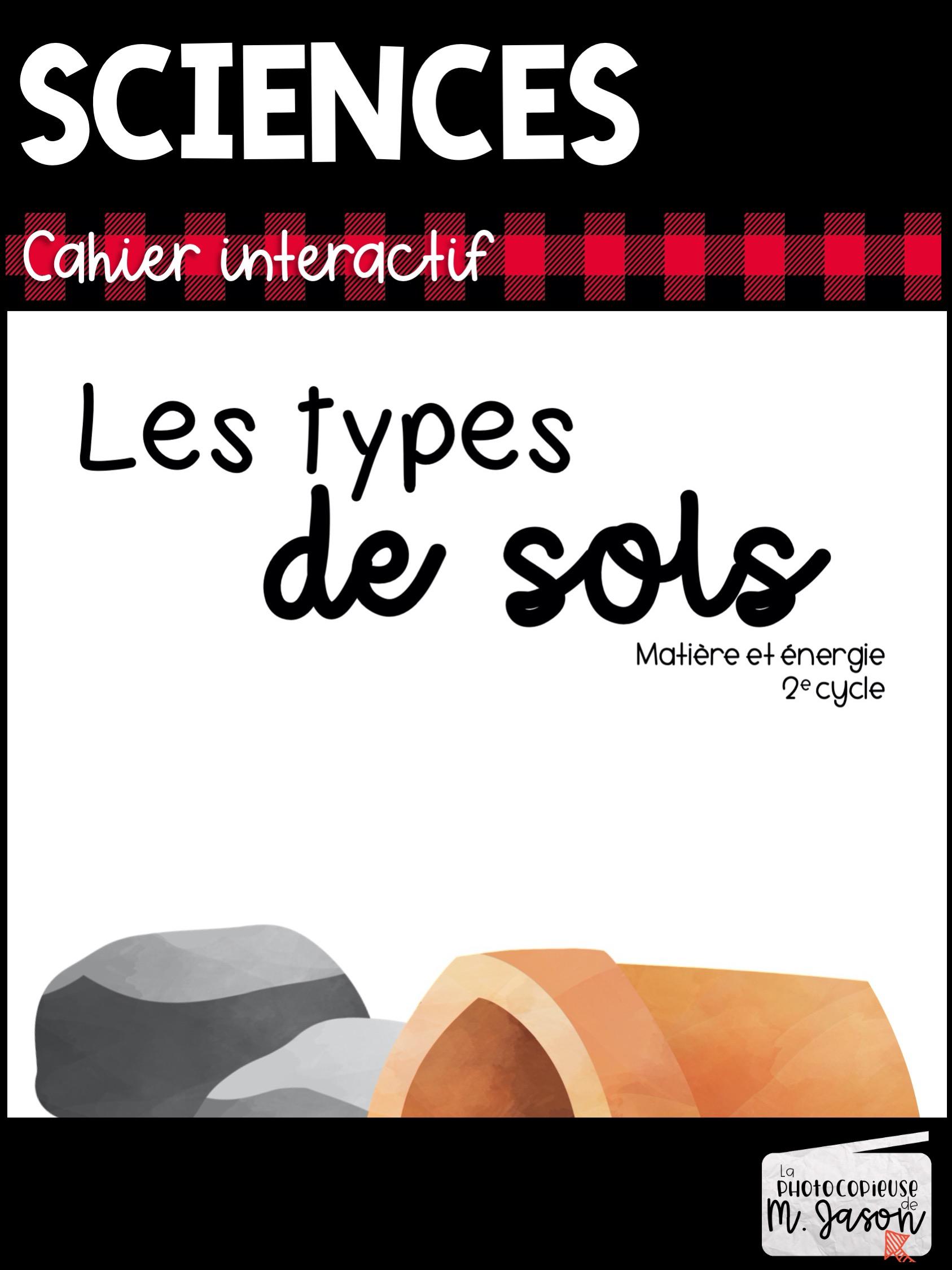 Sciences: Les types de sols