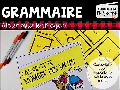 Atelier français: Casse-tête nombre //2e cycle
