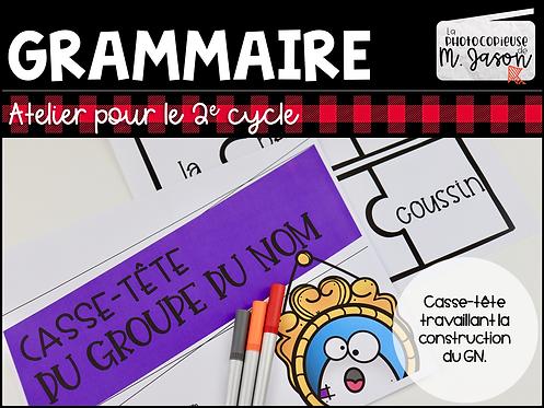 Atelier français: Casse-tête GN // 2e cycle