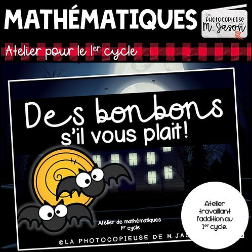 Atelier maths: Des bonbons s'il vous plait!