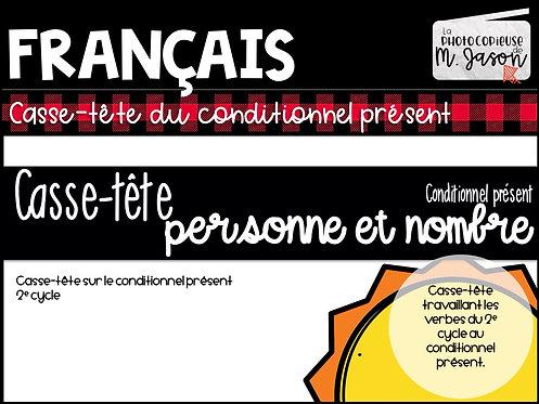 Atelier français: Casse-tête conditionnel présent // 2e cycle