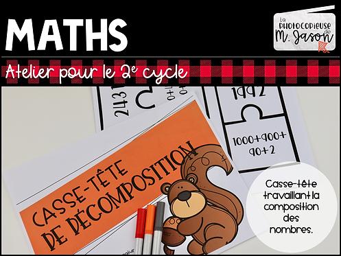 Atelier maths: Casse-tête décomposition //2e cycle